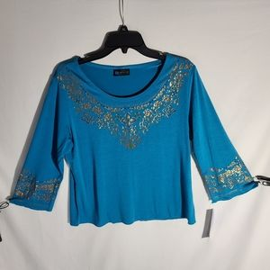 RELATIVITY BLOUSE LARGE VERY SOFT & BEAUTIFUL